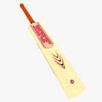 bat mrf wooden cricket 3d obj