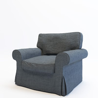 3d model armchair ikea ektorp