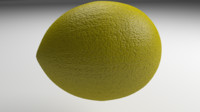 3d blend lemon