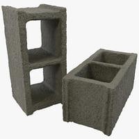3d max cinderblocks materials