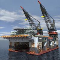 3d 3ds dual crane vessel format
