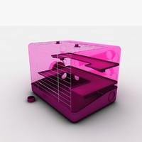 square hamster 3d c4d