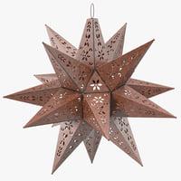 maya star lantern design
