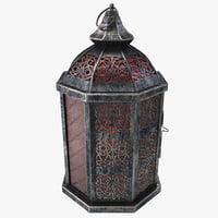 moroccan lantern design c4d