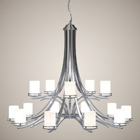 3d chandelier lights model
