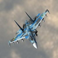 3d 3ds su-27 flanker ukrainian air force