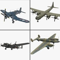 3d world war ii bomber model