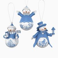 3dsmax snow man snowman