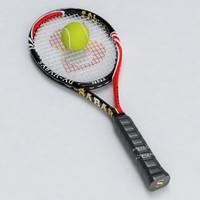 tennis racket ball 3d model