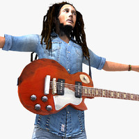 3d model of bob marley