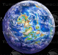 3d planet fantasy earth model