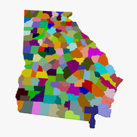 counties georgia 3d model