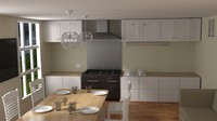 3d dining room kitchen model