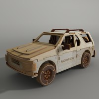wooden toy car 3d max