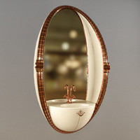 3d compact bathroom restroom mirror model
