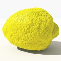 3d scanned lemon -
