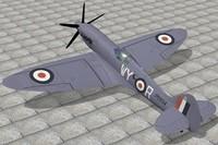 3d supermarine spitfire model