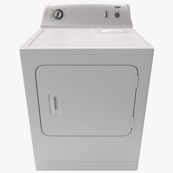 Whirlpool Front Loading Electric Dryer clothing clothes clean domestic appliance launder laundry tumbler vray decor interior drying