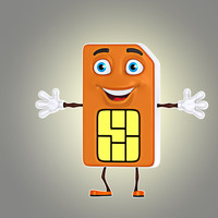 3d model of cartoon sim card