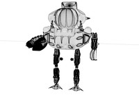 space robot 3d model