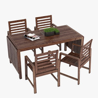 3d model ikea applaro tableset