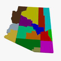 counties arizona 3d model