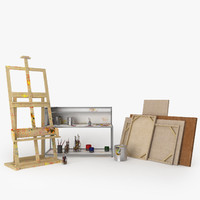 maya painter easel canvas