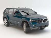 3d model jeep grand cherokee 2012