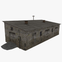 3d obj farm rural industrial building