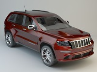 jeep grand cherokee srt 3d max