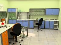 3d model modern laboratory