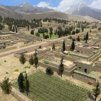 3d model afghan farmland farms