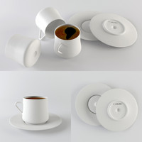 3d model turkish coffee cup sufi