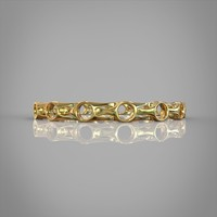 bracelet metal gold 3d model
