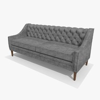 3d chesterfield chair