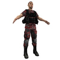 3ds max mercenary soldier