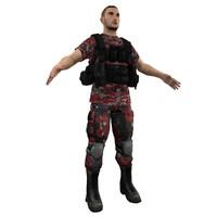 3ds max mercenary soldier