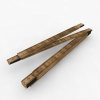 folding carpenter s ruler 3d x