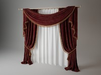 curtain materials fabric 3d model
