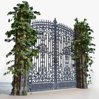 gate stone concrete 3ds
