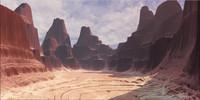 3d landscape desert model