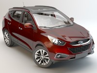 3d hyundai ix white studio model