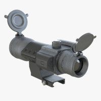 reddot scope vortex 3d model