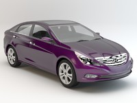 car hyundai sonata 3d model