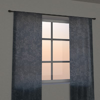 3d model hand curtains