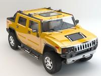 3d model hummer h2t studio