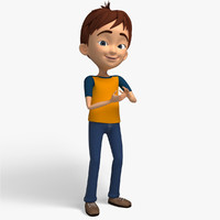 3d max cartoon character kid -