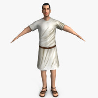 3ds ancient roman man