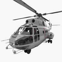 3d utility helicopter sa 330 model
