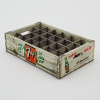 7Up Vintage soda crate
